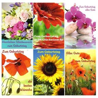 10 Gluckwunschkarten Zum Geburtstag Blumen 5404 Geburtstagskarte